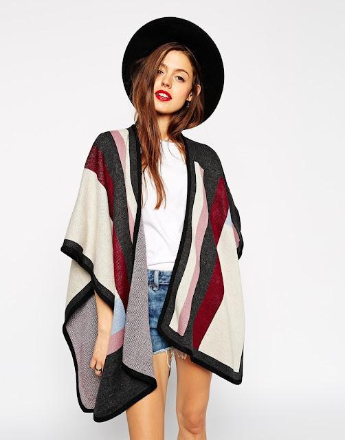 Capa poncho de lana