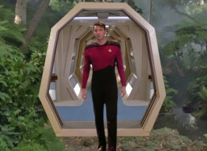 riker coming out of the holodeck star trek