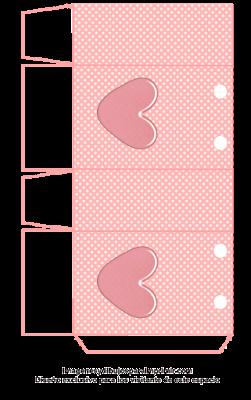 bolsa baby shower con corazón