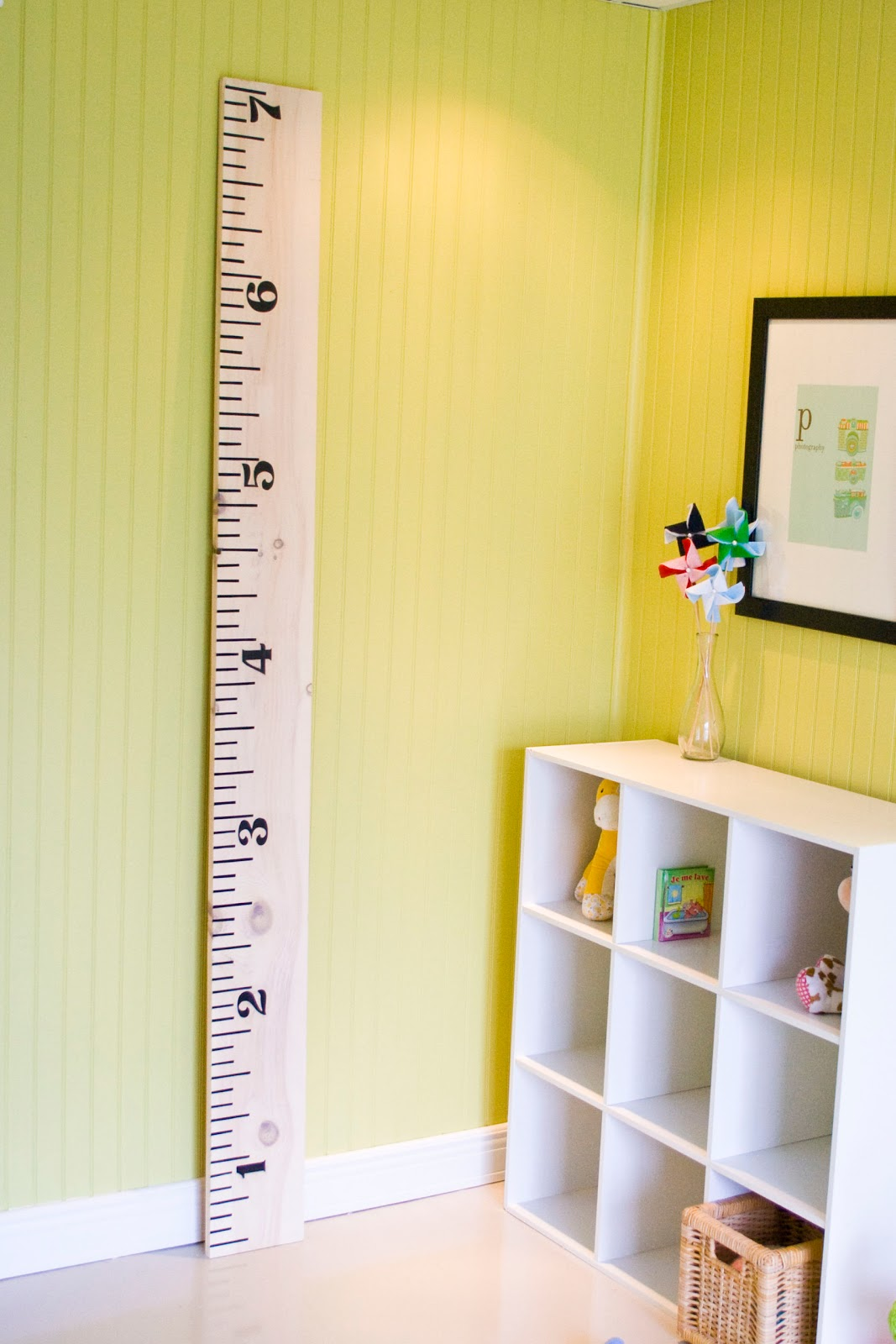 Two sisters one mess tuto r gle mural pour mesurer les enfants challenge cr atif 12 mois 12 - Regle pour mesurer ...