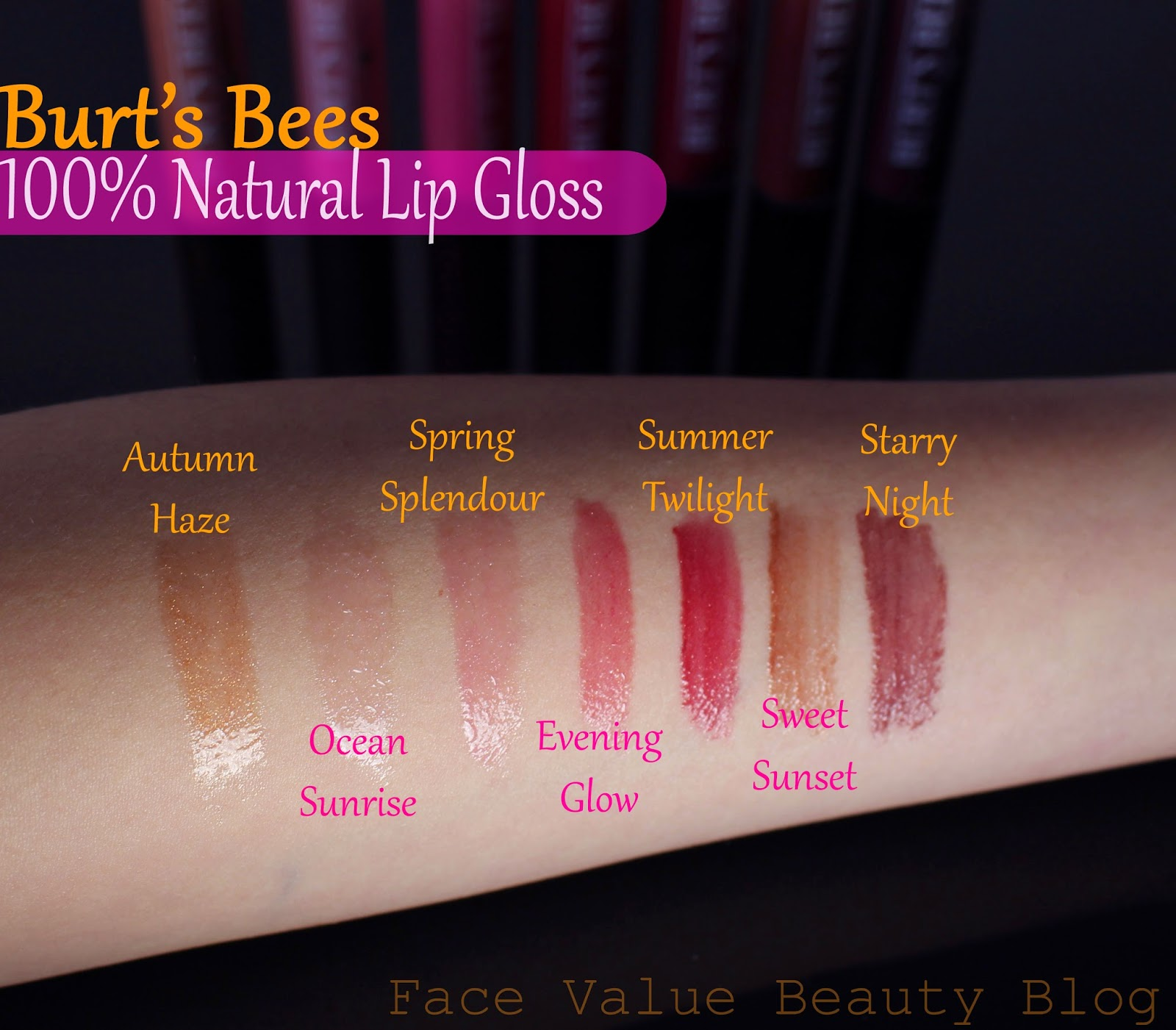 Burts bees lipgloss lip shimmer makeup beauty review