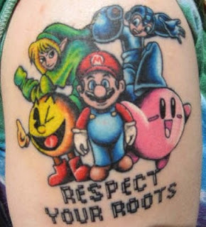 Mario Link Zelda PacMan Rockman Kirby Tattoo