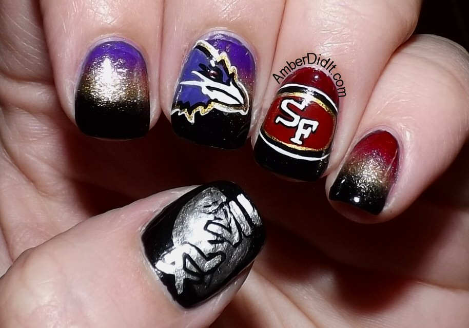 Amber did it!: NFL Nail Art Series #17 ~ Superbowl Edition