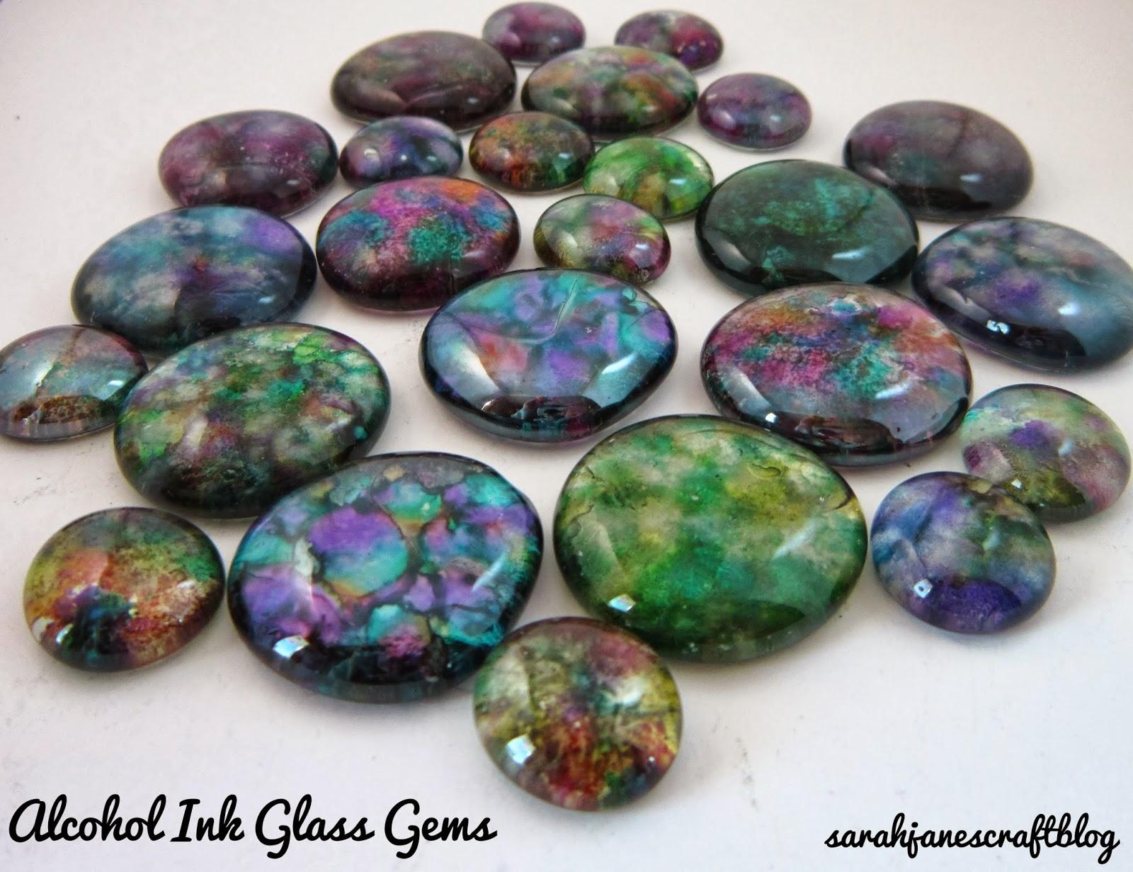 sarah jane s craft blog alcohol ink glass gems
