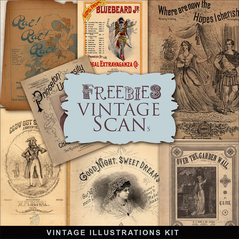 Freebies Vintage Note Album Covers