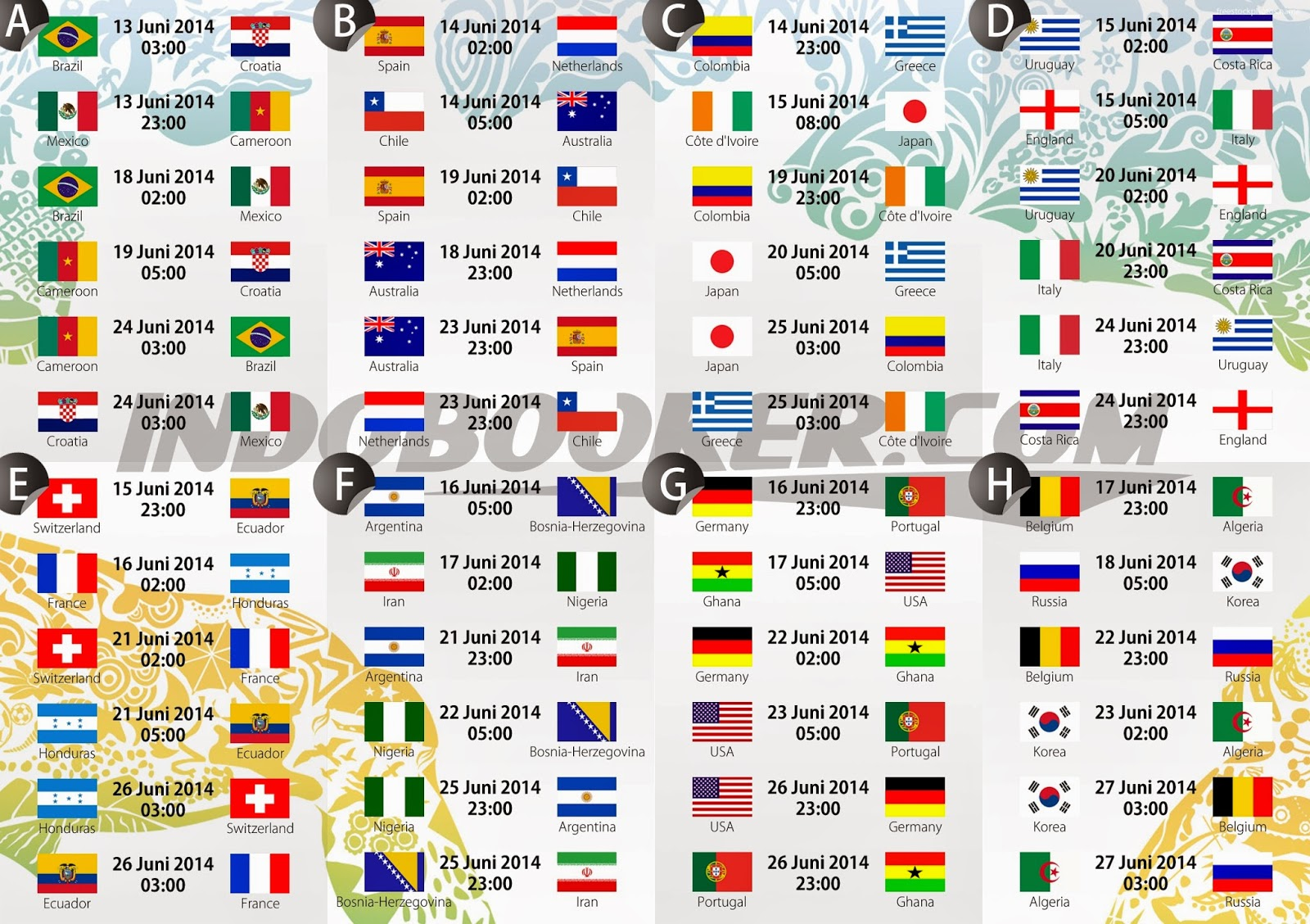 Fifa Beach Soccer World Cup  Schedule