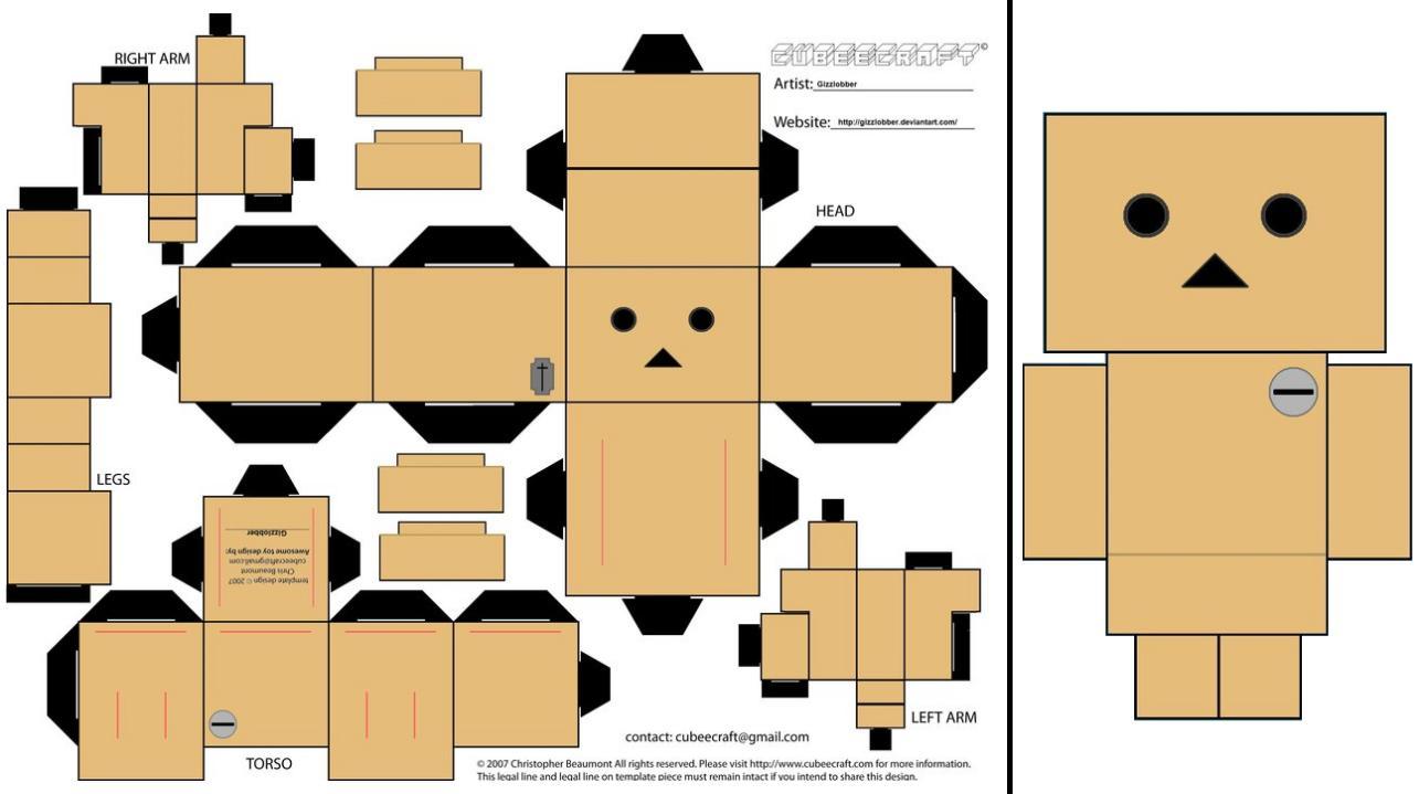 Danbo Paper Template