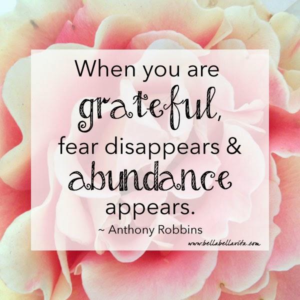Tony Robbins quote; Bella Bella Vita image