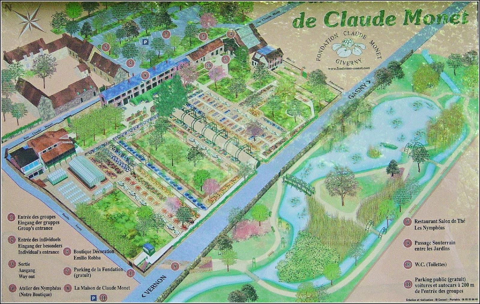 Giverny Monet Garden Map Garden Ftempo