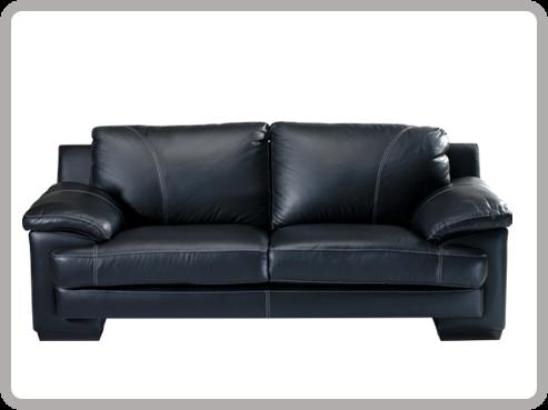 Almac n expocredito - Sofa cuero negro ...