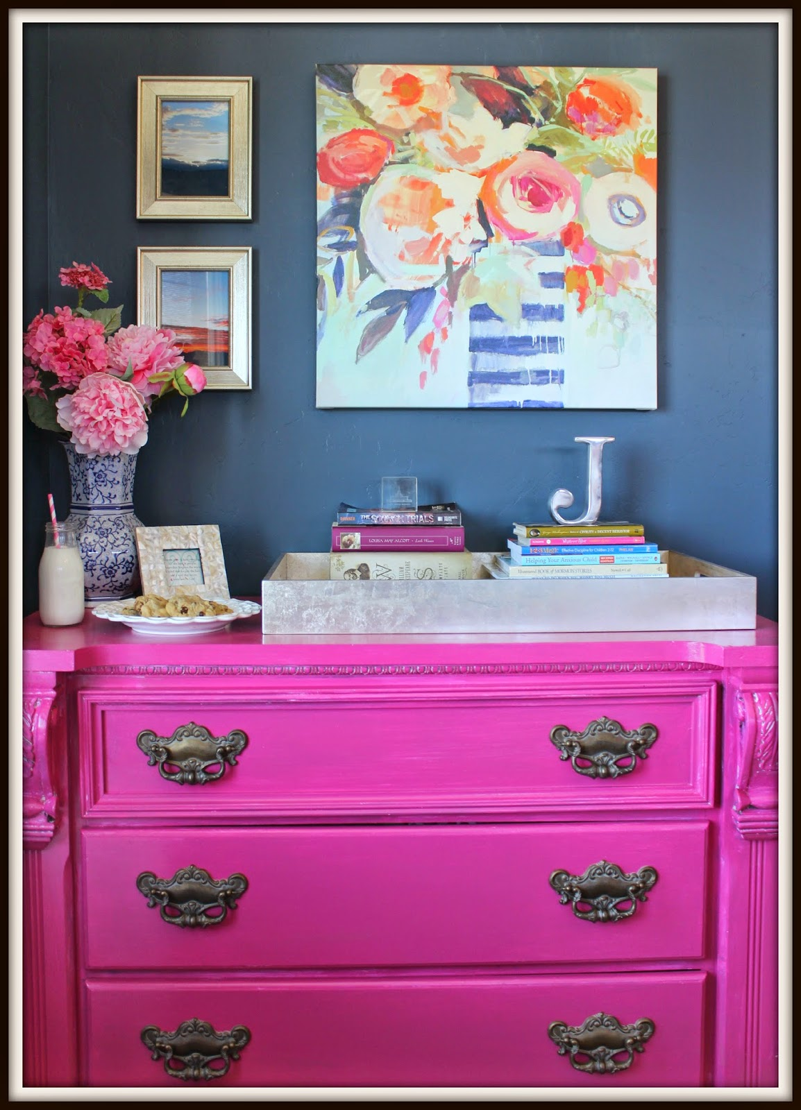 coconut chocolate chip cookies, dessert, furniture, pink dresser, Recipe:  Cookie, furniture remodel, Home Makeover