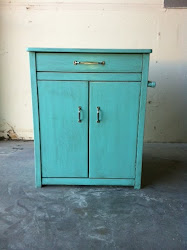 Small Teal Cabinet **SOLD**
