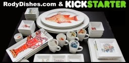 coastal art dishes