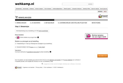 Hoe kan ik betalen bij Wehkamp?
