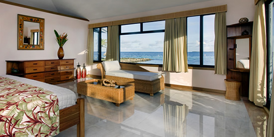 Bedroom at the main villa
