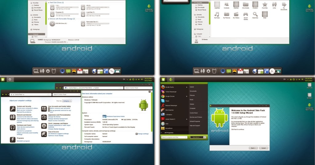Ifi Top 10 : Top 5 best Android Skin Pack for Windows 7
