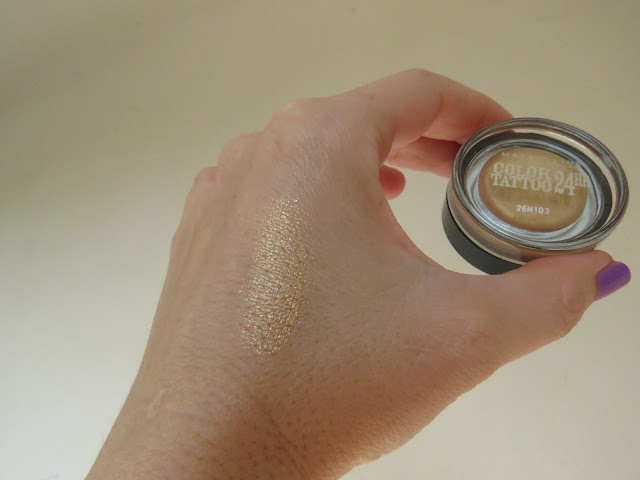 MAYBELLINE Color Tattoo, Eternal Gold - swatch