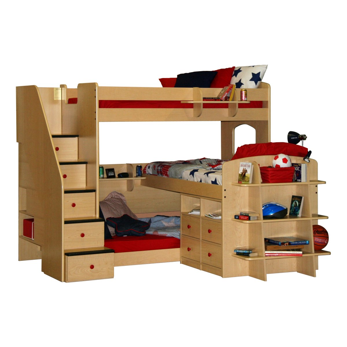 Triple Bunk Bed Furniture 1200 x 1200
