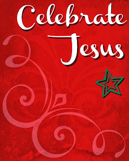 Celebrate Jesus Printable. New Free Printables every day until December 23rd at SoHeresMyLife.com