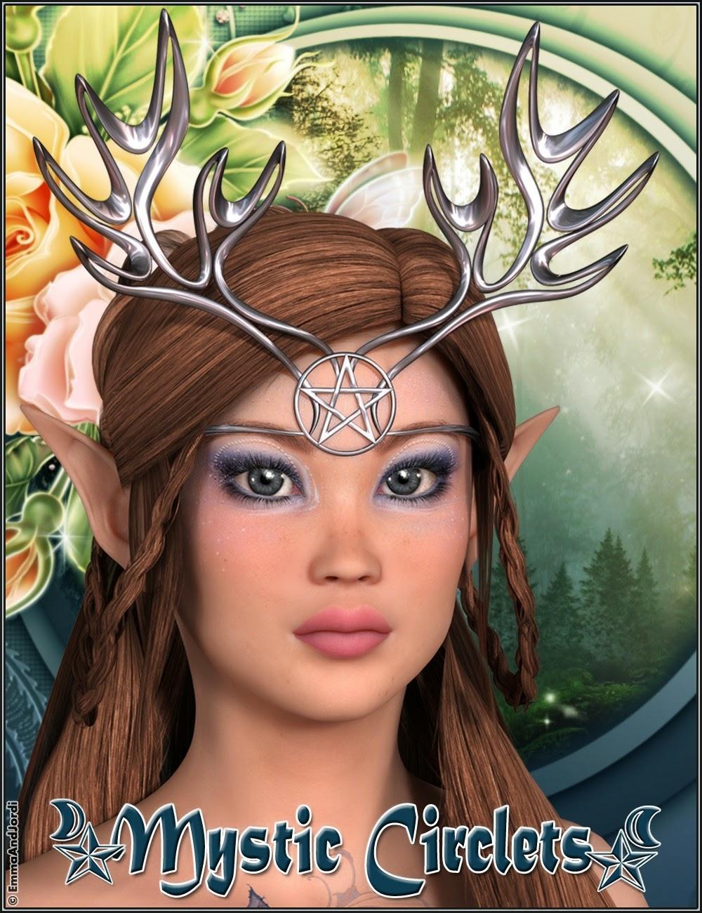 3d Models - Mystic Circlets For Any Figure