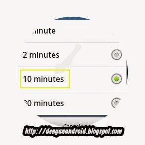 Cara Mengatur Screenlock Timeout