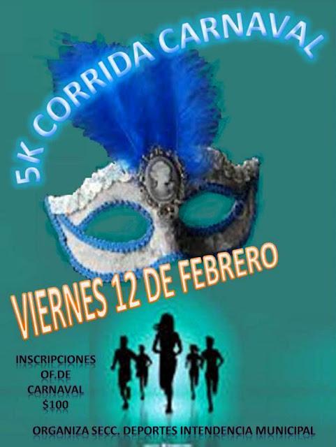 5k Corrida de Carnaval en Melo (Cerro largo, vi 12/feb/2016)