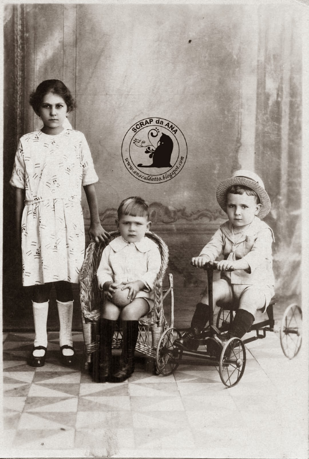 Fotos Antigas Crianças e Brinquedos