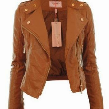 Diana Leather Biker Crop Jacket