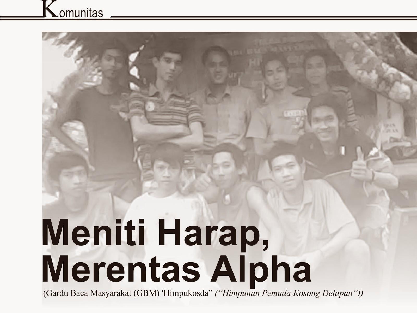 Gardu Baca MAsyarakat (GBM) 'Himpukosda' ('Himpunan Pemuda Kosong Delapan), komunitas Unik, Komunitas keren