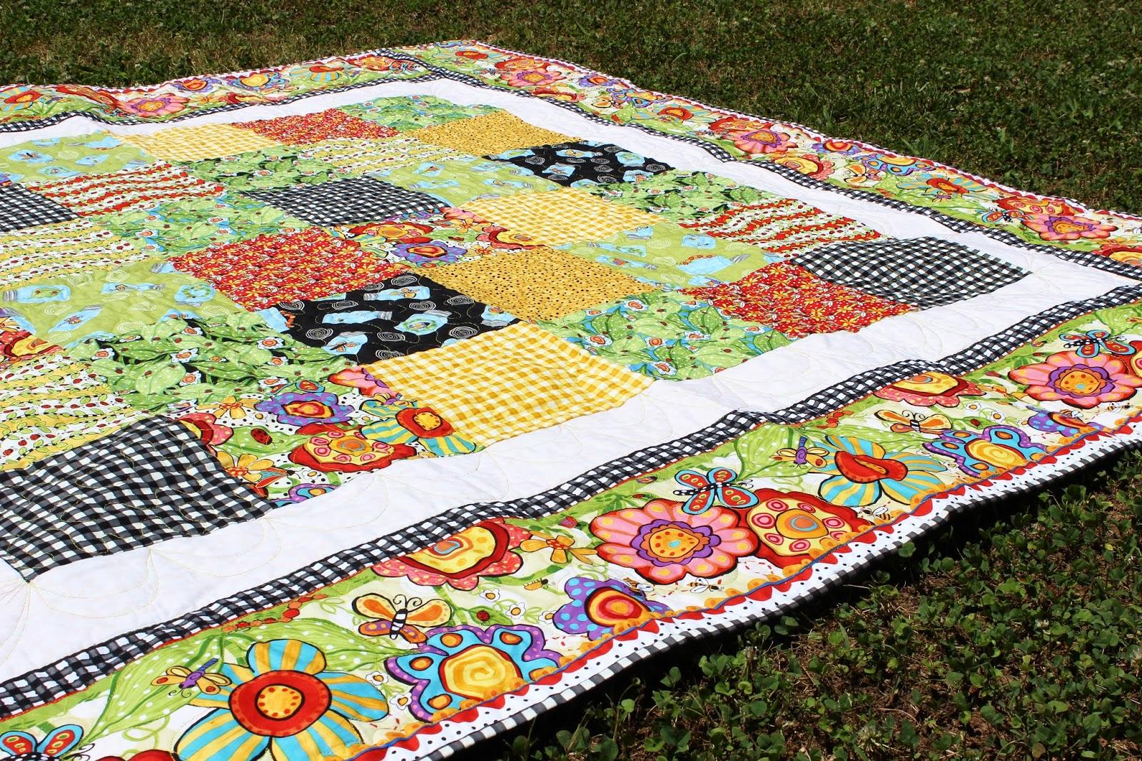 Picnic Blanket With Bugapalooza Fabric Jennifer Jangles