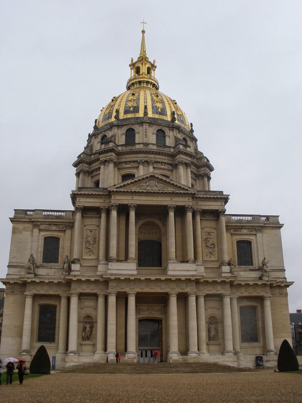 Palacio Nacional de Los Inválidos, edificado como residencia para los soldados franceses retirados del servicio.