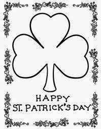 New St Patricks Day Coloring Sheets Printable