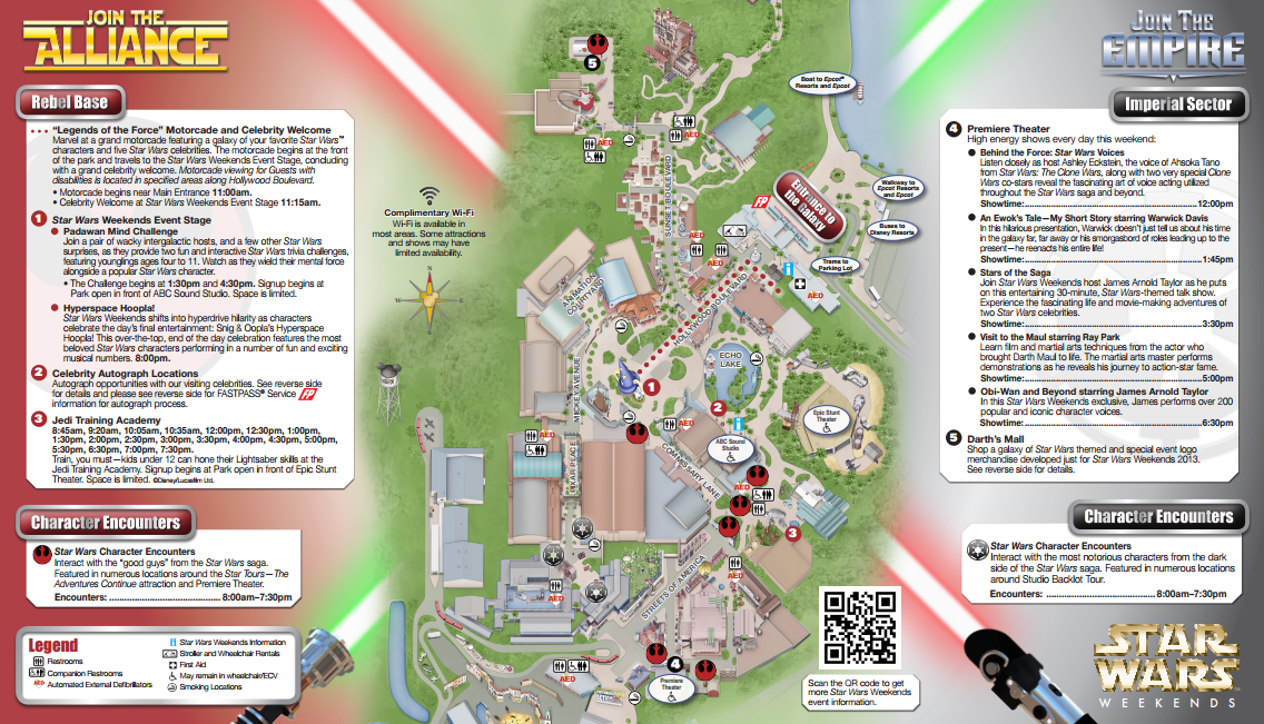 Map of Hollywood Studios 2014 Map of Hollywood Studios For