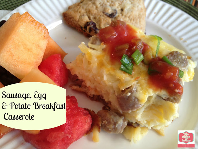 Mother's Day Brunch is easy to prepare with this Sausage Breakfast Casserole! This make-ahead meal is simple, delicious, and a hearty choice!