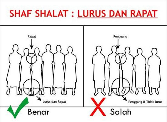 Saf dan Postur Sholat Tidak Betul