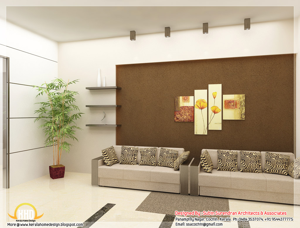 Beautiful 3d interior office designs kerala home for Kerala house interior arch design