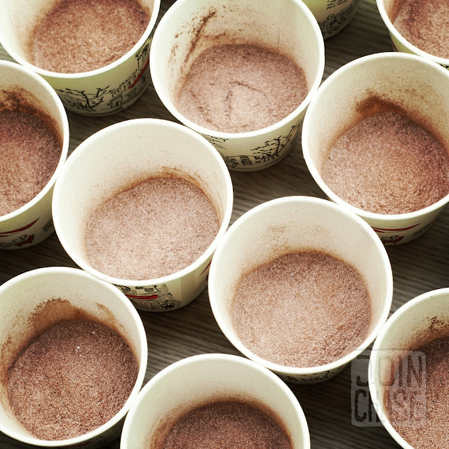 Cups of hot chocolate for students to enjoy in Ochang, South Korea.