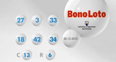 bonoloto 30 diciembre resultado