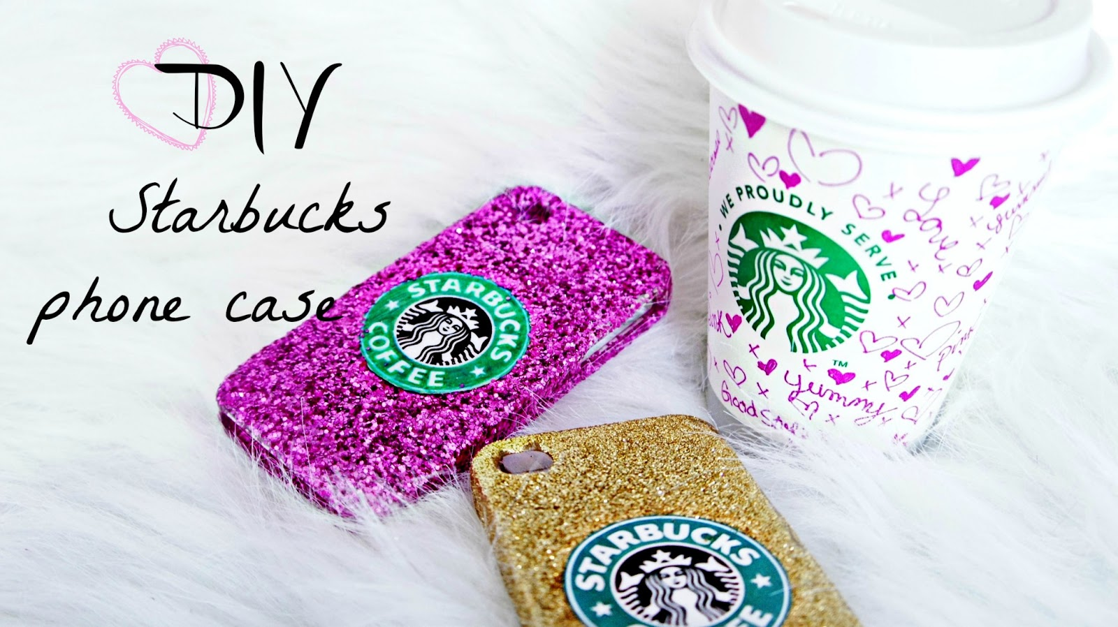 BelindaSelene: DIY Glitter Starbucks Phone Case