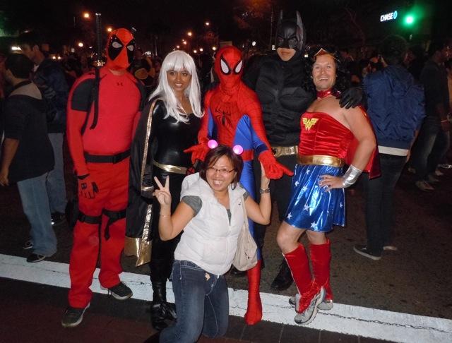 West Hollywood Halloween Carnaval heroes 2011