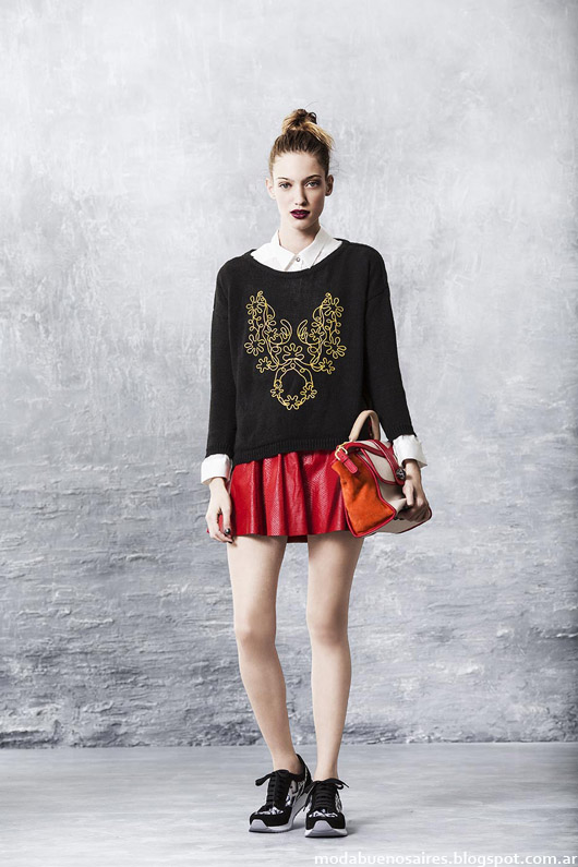 Moda invierno 2014 faldas de cuero Uma.