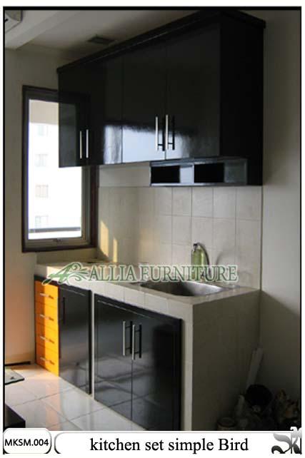 Kitchen set minimalis model bird allia furniture for Biaya kitchen set per meter