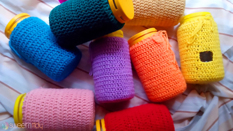 Organizing craft room plastic jars