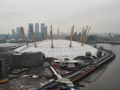 View of O2 Arena from Emirates Airline Cable Car