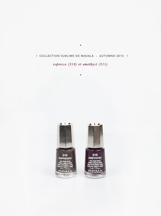 Mavala collection sublime  //  Automne 2013