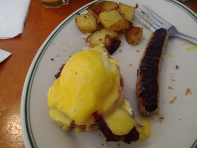 Eggs blackstone from Just For You Cafe in the Dogpatch district of San Francisco