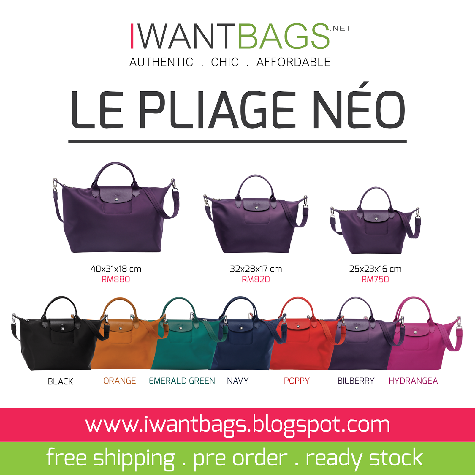 I Want Bags 100 Authentic Coach Designer Handbags And Much More Longchamp Neo Medium Black New Collection Le Pliage