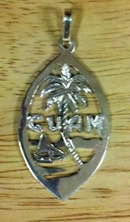 Metalsmith orfebreria guam seal silver escudo de la isla for Lin s jewelry agana guam