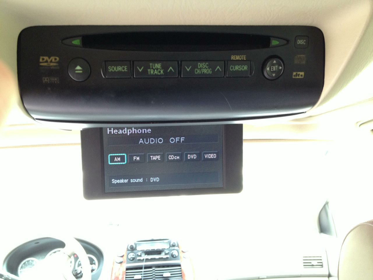 2004 nissan quest dvd player no sound