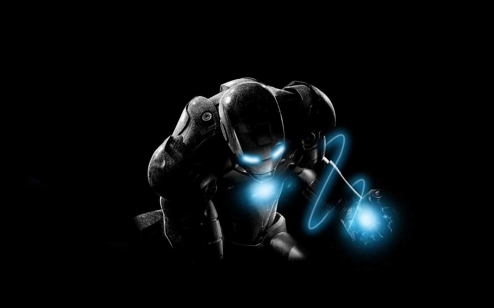 Iron Man Wallpaper HD Blue